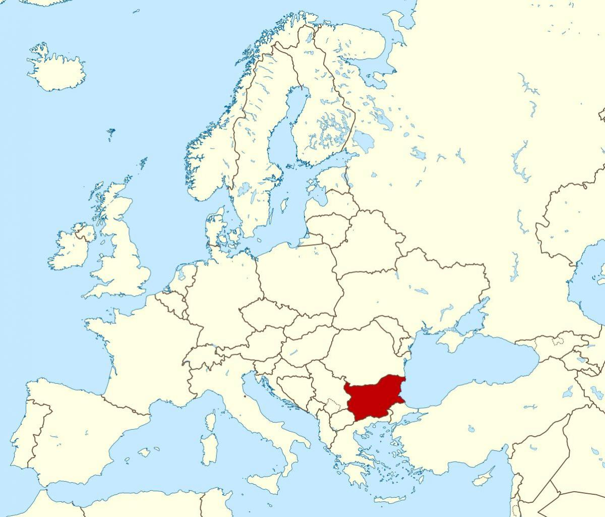 Bugarska Mapa Na Karti Svijeta Mapa Pokazuje Bugarska Istocne