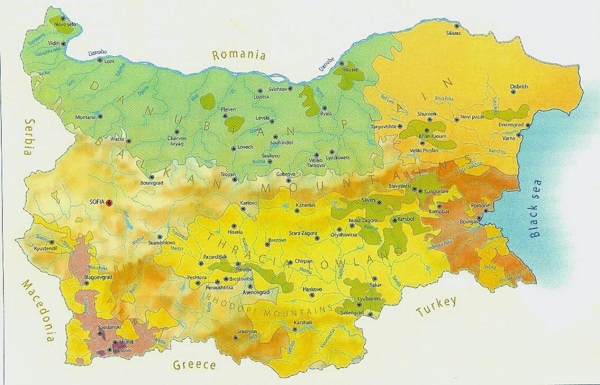 Bugarska Klime Mapu Mapa Bugarska Klime Istocne Evrope Evropi
