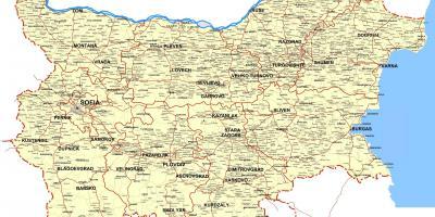 Bugarska Mapu Mape Bugarska Istocne Evrope Evropi